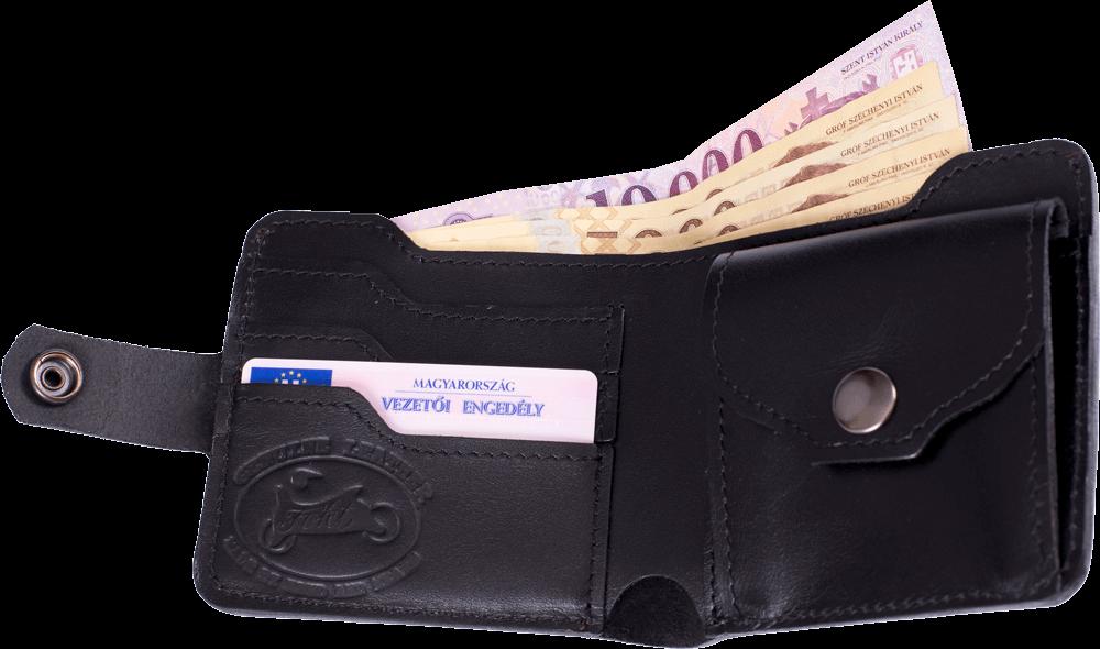 Bőr pénztárca Turul Fekete 79e49e47d3