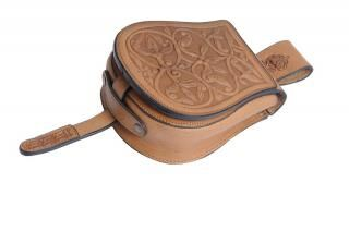 Rakamaz stitched leather bag high quality cowhide leather