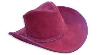 Bőr western kalap